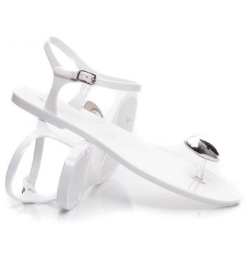 Gumové sandále so srdiečkom