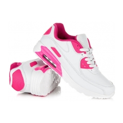 Jednoduché bielo-ružové dámske športové tenisky