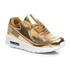 Luxusné dámske zlaté tenisky