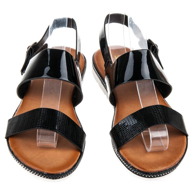 246e8326df607 Moderné čierne letné sandálky - H269B | dawien.sk