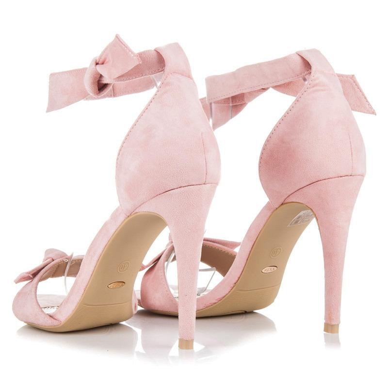 2d66fbfc3a Luxusné ružové sandálky s viazaním - 1227-20P