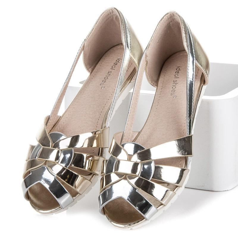 90155e8b7f1 Zlaté lakované sandálky - D-6530GO