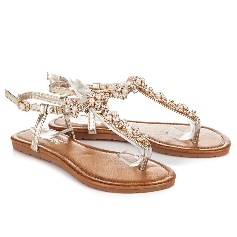 b32dd666ffc Zlaté elegantné sandále - JH30GO