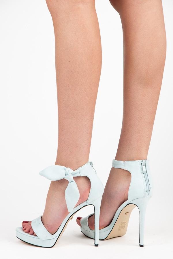 2fad0c1aba7e Efektné modré sandále na vysokom ihlovom podpätku - AF-8675L.BL ...