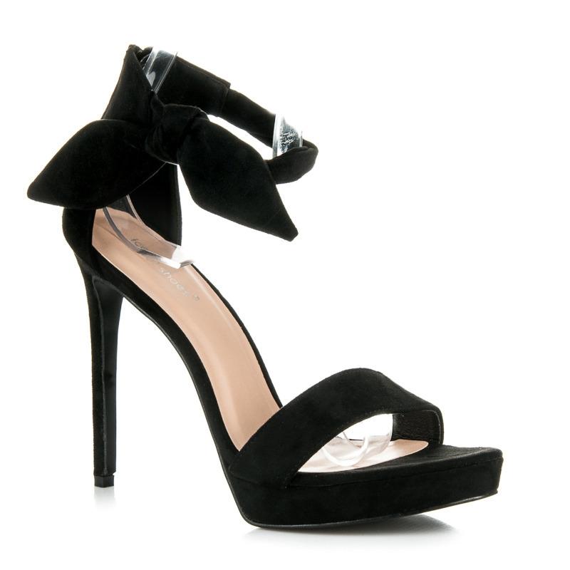 73e38a7904a0 Efektné čierne sandále na vysokom ihlovom podpätku - AF-8675B ...