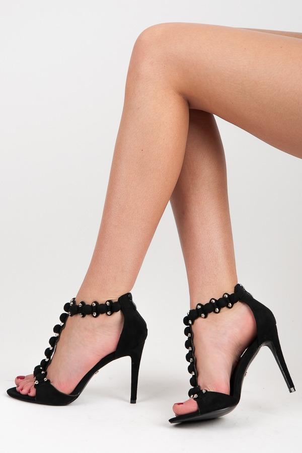 a1dd4b55cc465 Elegantné čierne sandále na ihličkovom podpätku - GH-2627B | dawien.sk