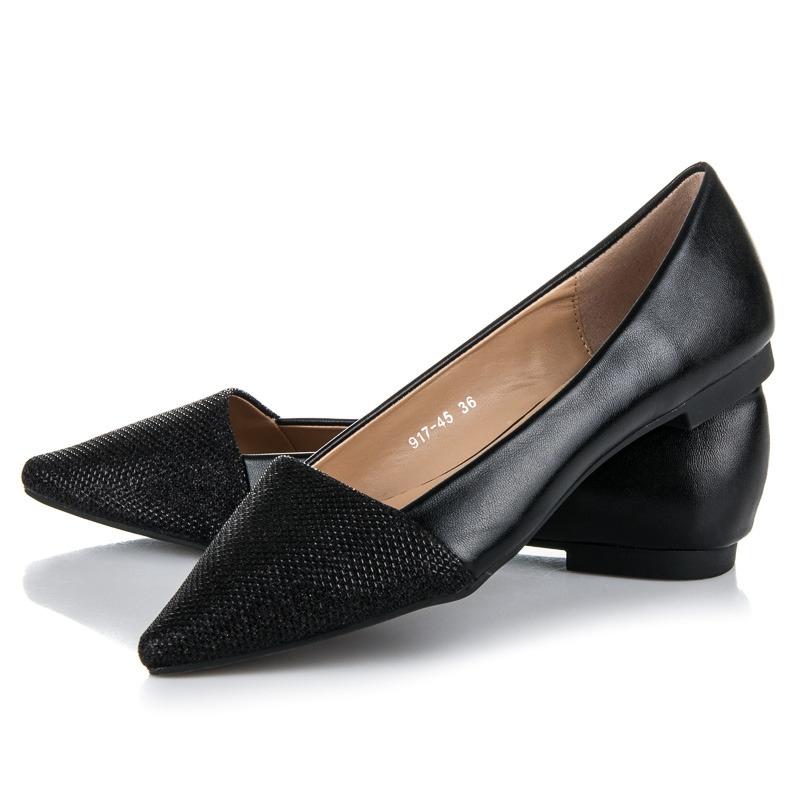 aa37cf6f36 Elegantné čierne balerínky - 917-45B