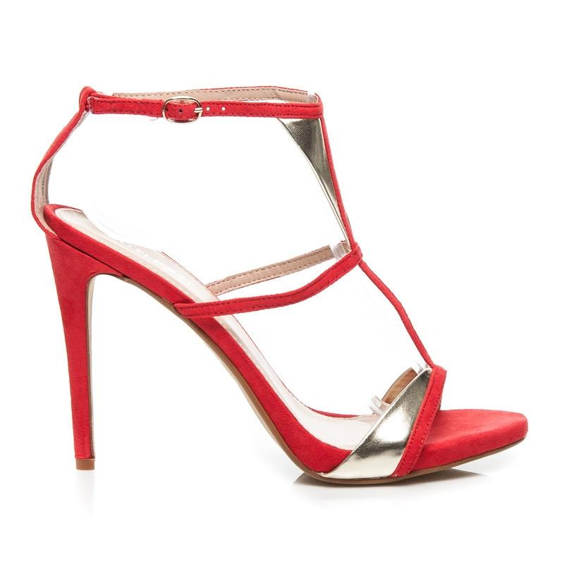 d271541aae Elegantné červené dámske sandále - FE088R