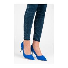 0122a51ca107 Semišové modré lodičky - 1243-13N