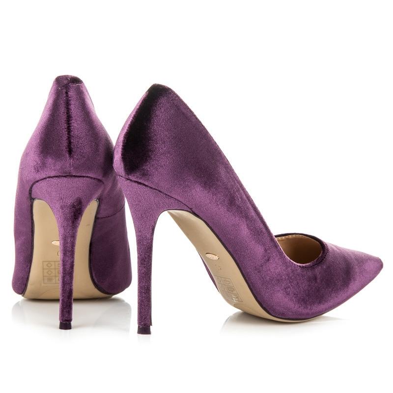 54e6ba9fe062 Luxusné semišové fialové lodičky na ihlovom podpätku - 5046-32PU ...
