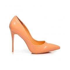 Klasické oranžové lakované lodičky - E396-36OR