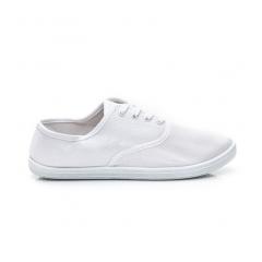 Pohodlné dámske biele textilné tenisky - BS504W / S1-114P
