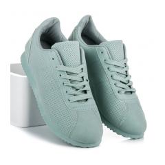 Zelené ažúrové tenisky - BL95GR 504d9ffd139