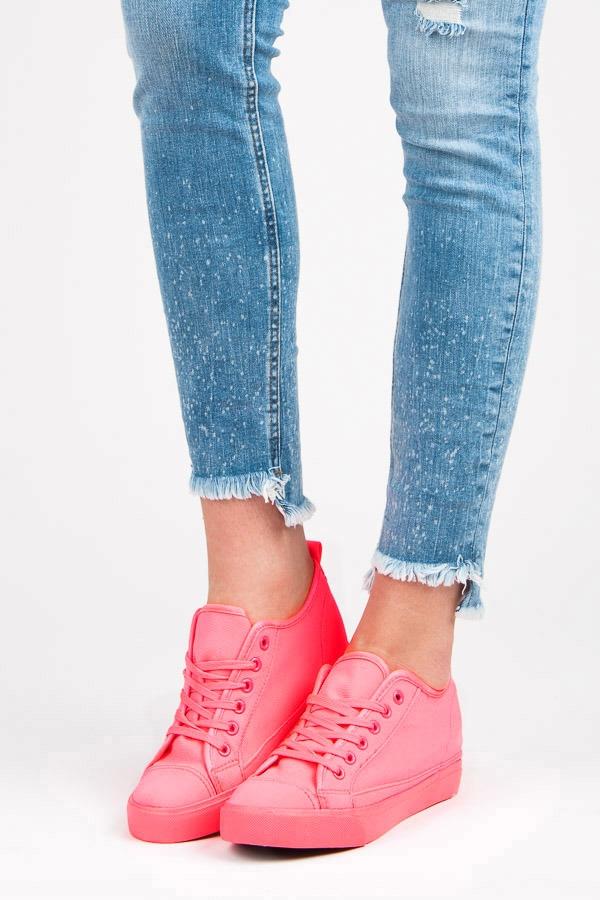 b0f9207fa6c2 Trendy ružové tenisky na kline - BAF17-11609P