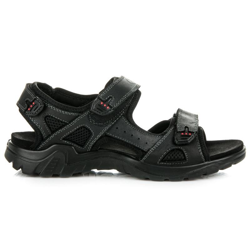 5ac4848d3 Pánske čierne športové sandále - SS15893-8B   dawien.sk