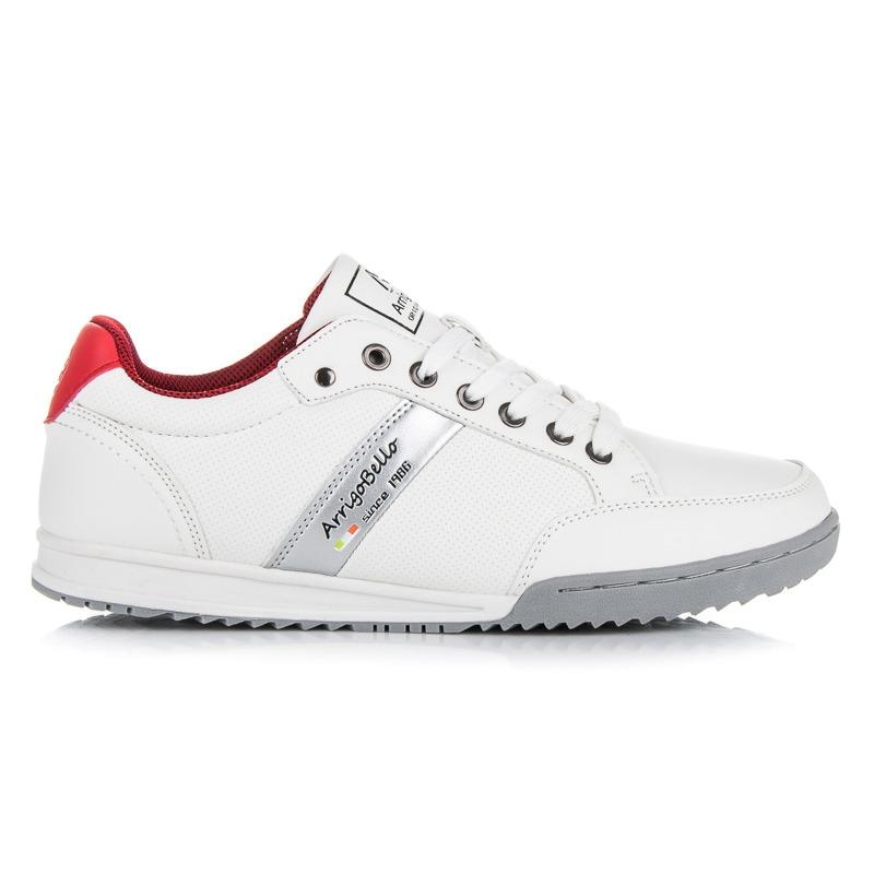 Štýlové biele pánske tenisky - AP7008W R  351e2d5ce02