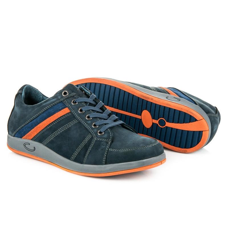a17649735f8f Modré pánske kožené športové tenisky - SD81-11BL