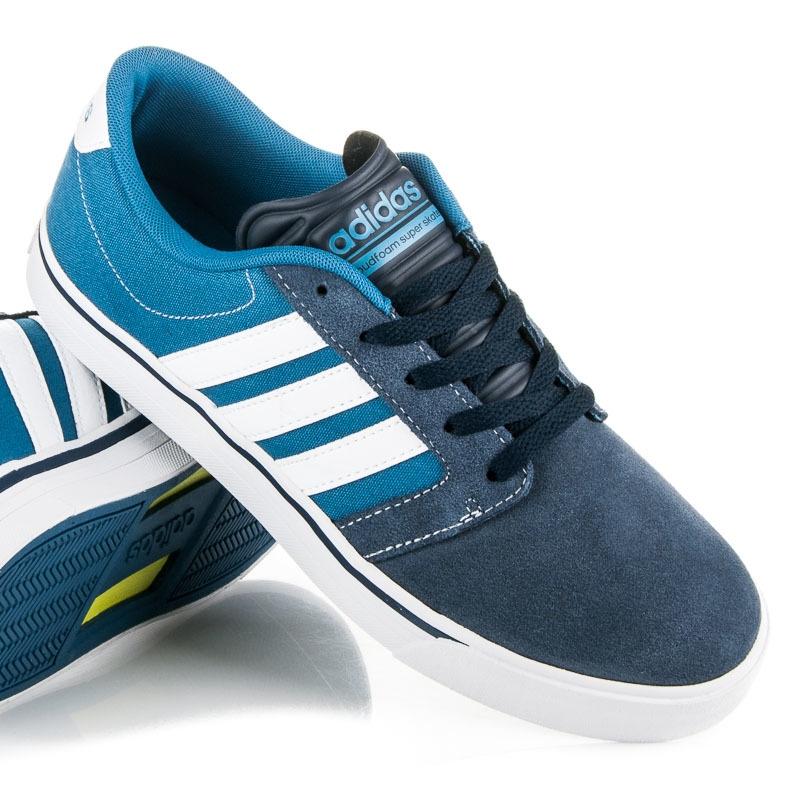 Modré kožené tenisky ADIDAS CLOUDFOAM SUPER SKATE - AW3895  69b28c30e68
