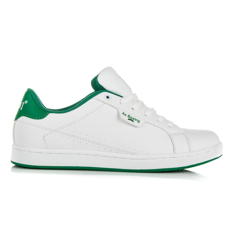 Biele pánske tenisky na šnurovanie - AP7289W GR  4365c996db7