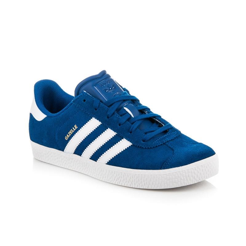 Modré kožené tenisky ADIDAS GAZELLE 2 J - BA9317  c91000606dc