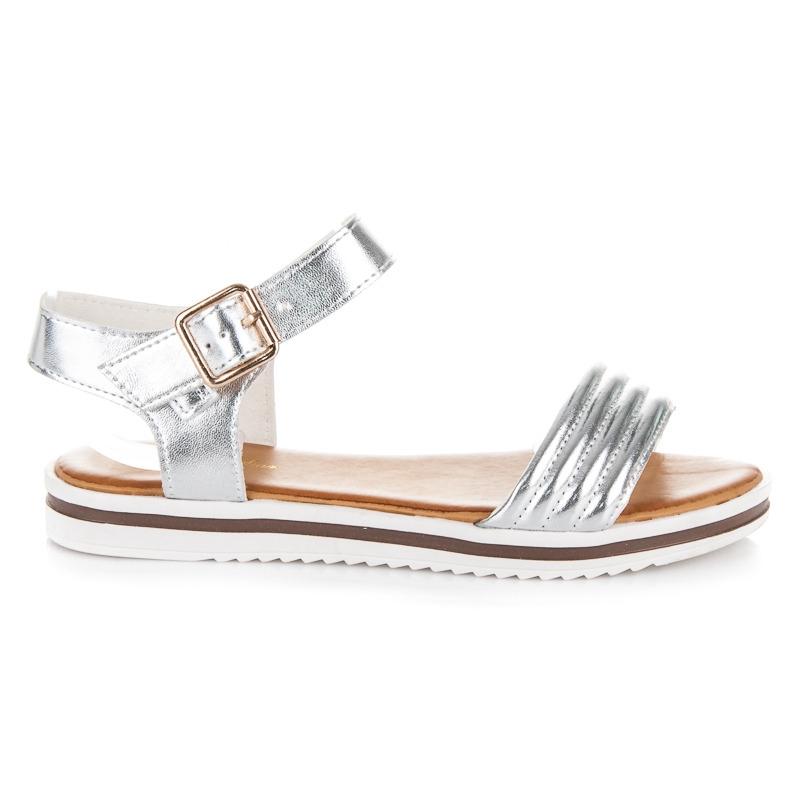084c21902704 Luxusné strieborné sandále na platforme - 5835S
