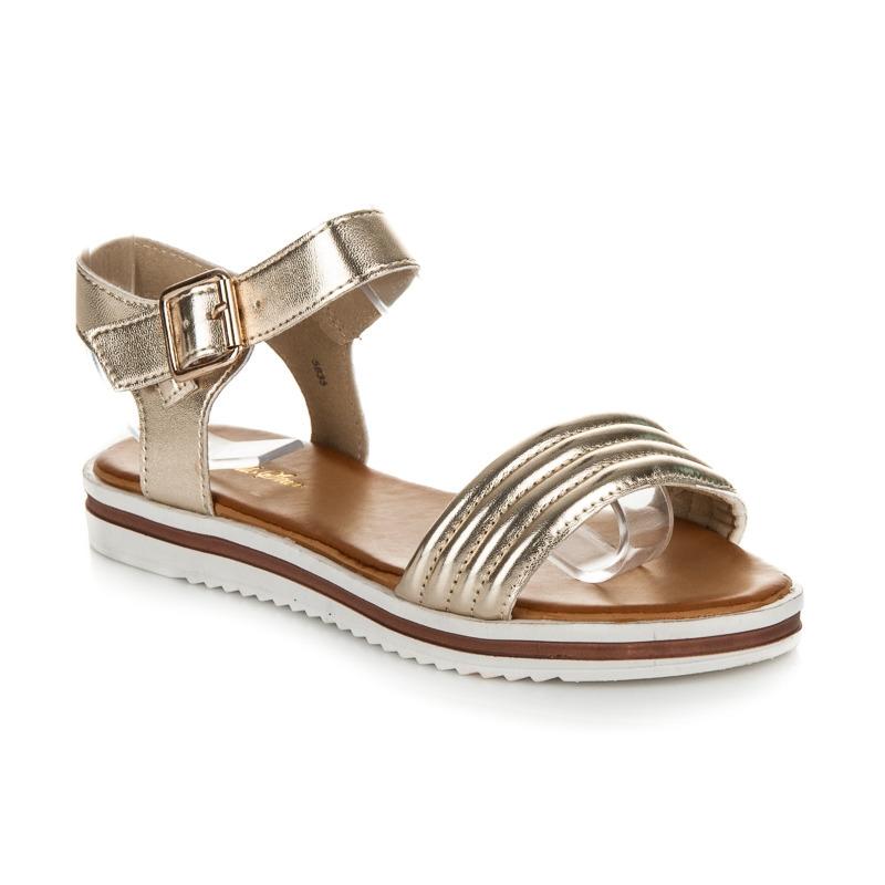 396f8bd988c0 Luxusné zlaté sandále na platforme - 5835GO