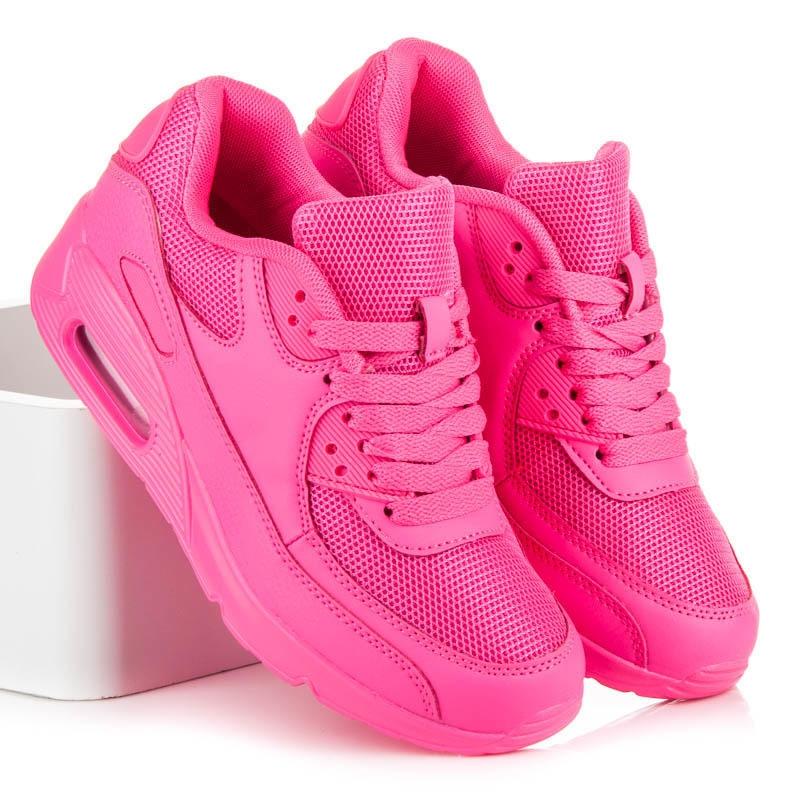 0641e3b389df Neónové dámske ružové športové tenisky - S-01PE
