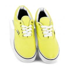 Luxusné žlté tenisky s bielou podrážkou - 086GR