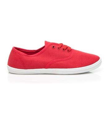 Dámske pohodlné červené tenisky - BS504R / S1-114P