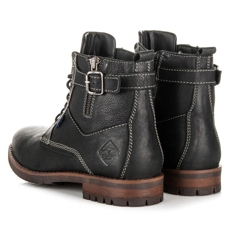 668326d02ebf Pánske čierne kožené topánky ROADSIGN - 08416B