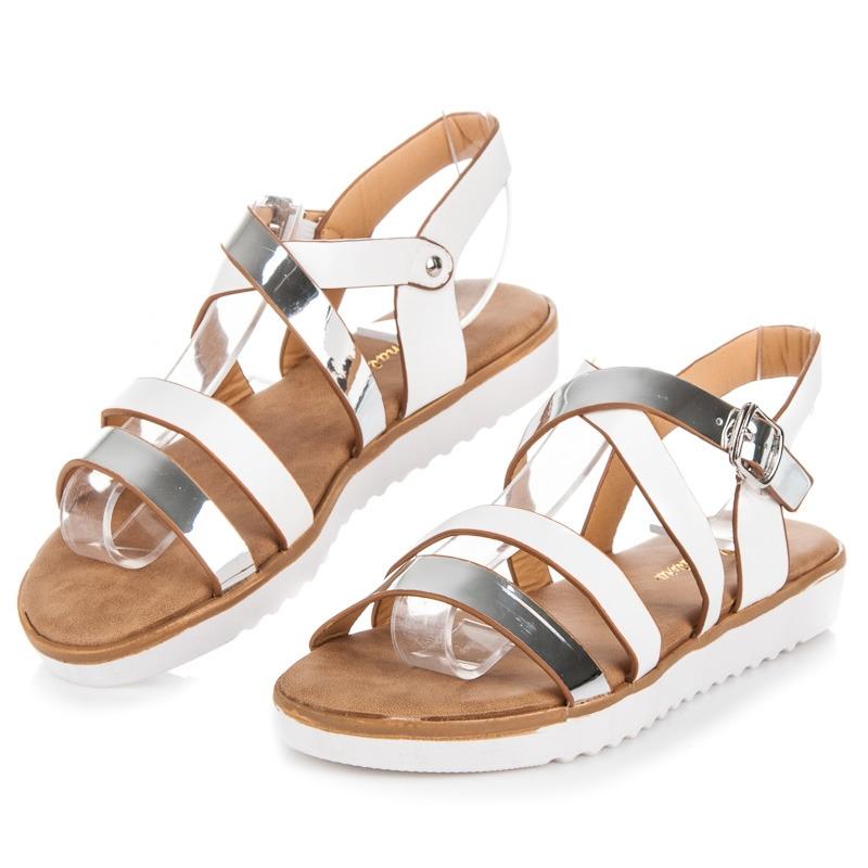 81a206ebae5f Pohodlné dámske biele sandále - 2078W