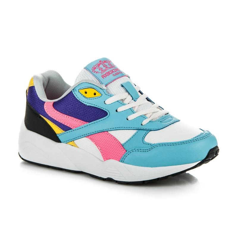3683c22a1dc2 Dámske farebné športové tenisky - B7055W-PU