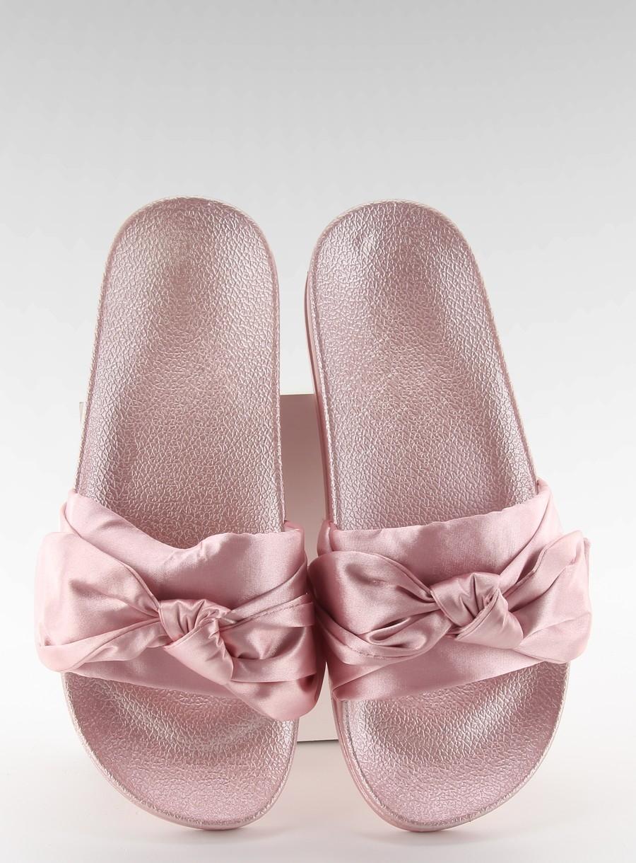 0d38985bb6 Dámske ružové šľapky s mašľou - 06-502