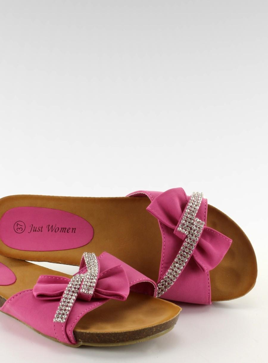 9a457a95b7a04 Elegantné ružové šľapky s kamienkami - 8A192-3A | dawien.sk