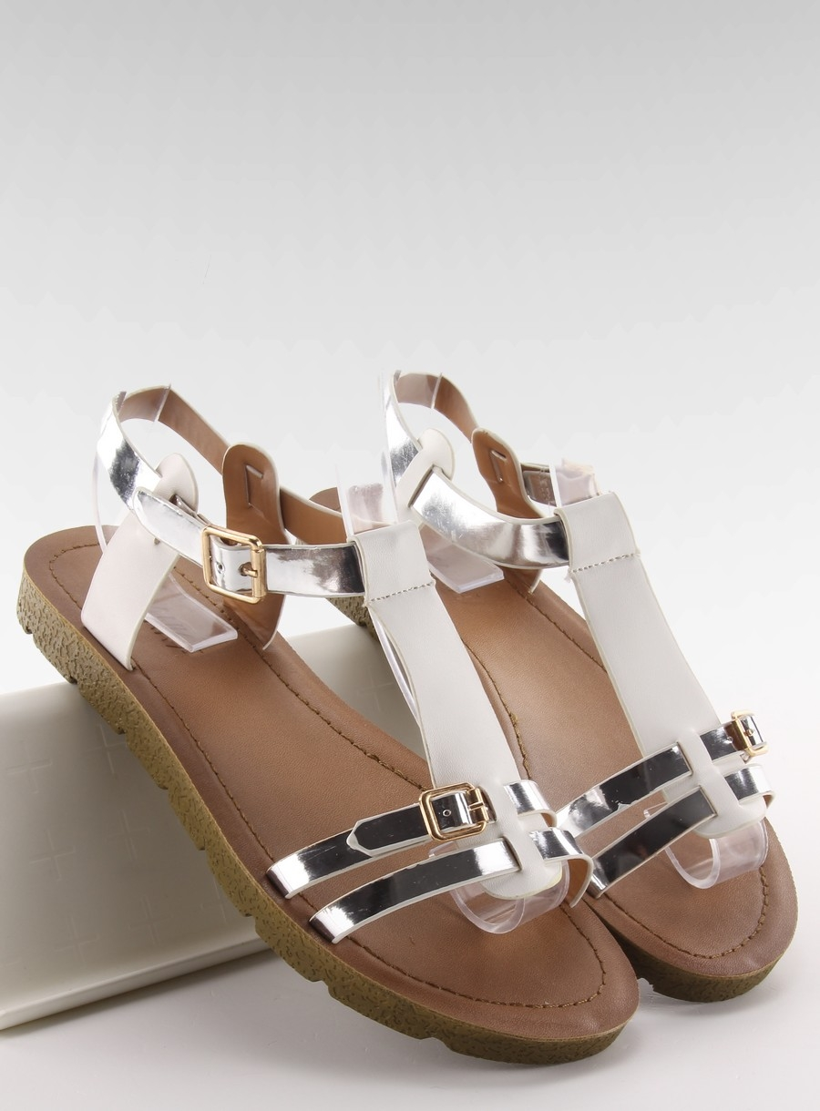 8c79b3cf17ad Pohodlné biele dámske sandále - JK-60