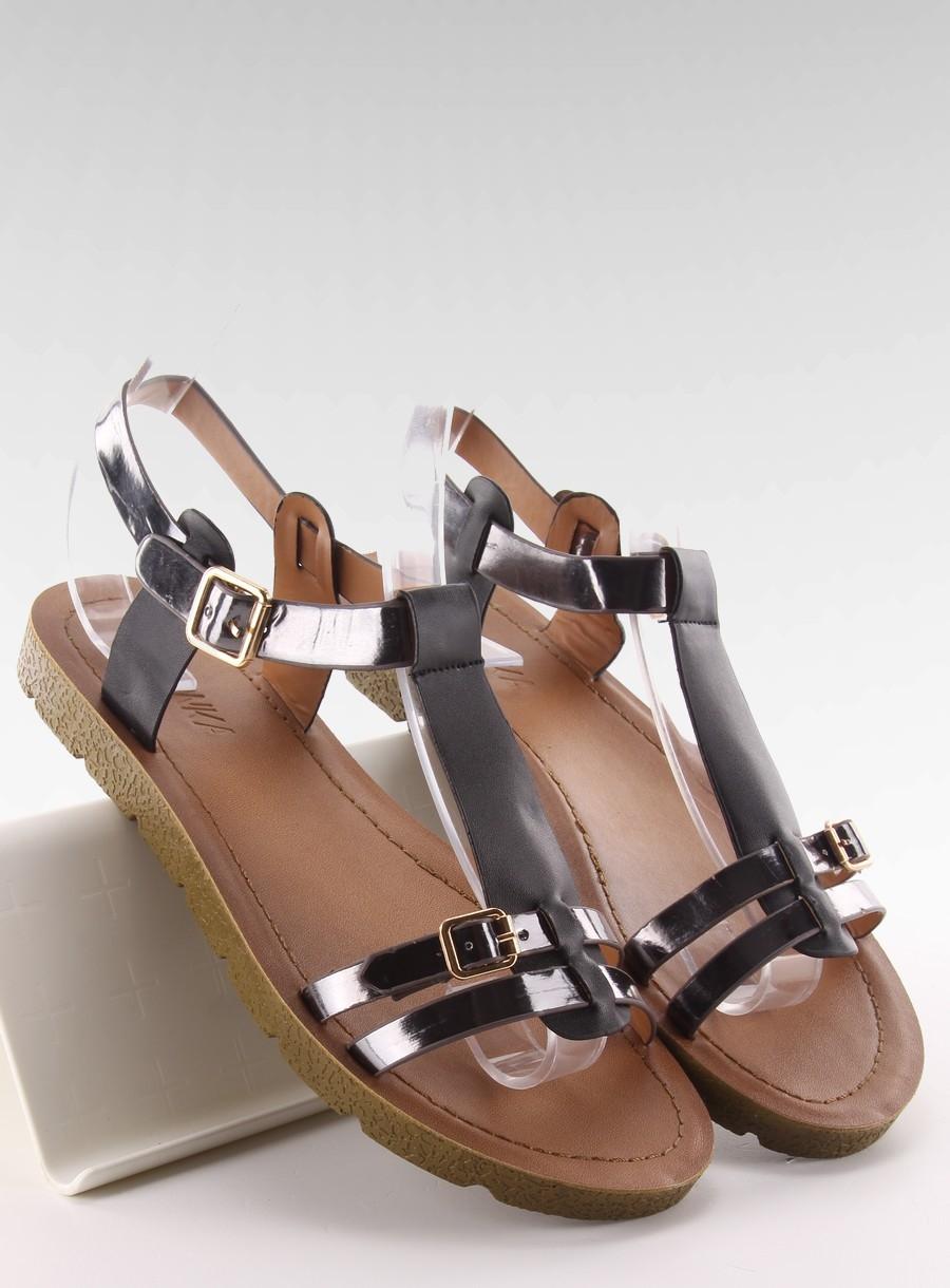 f51c4ae0403e Pohodlné čierne dámske sandále - JK-60
