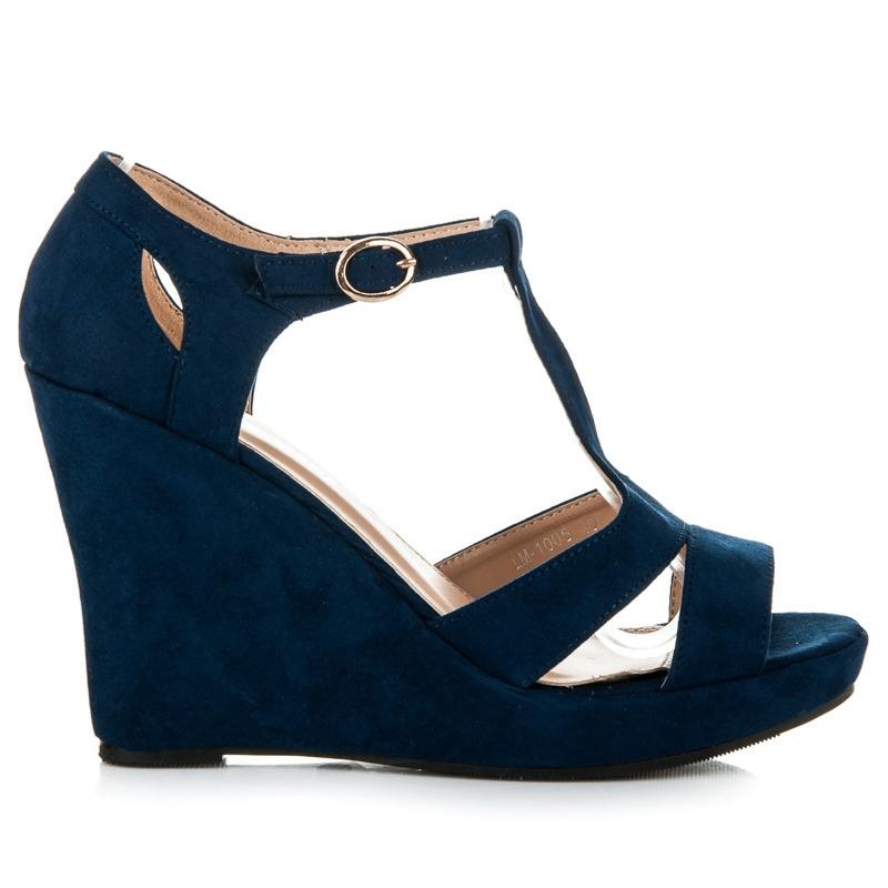 f1a4ae4a4cd9 Luxusné modré semišové sandále - LM1005DK.BL