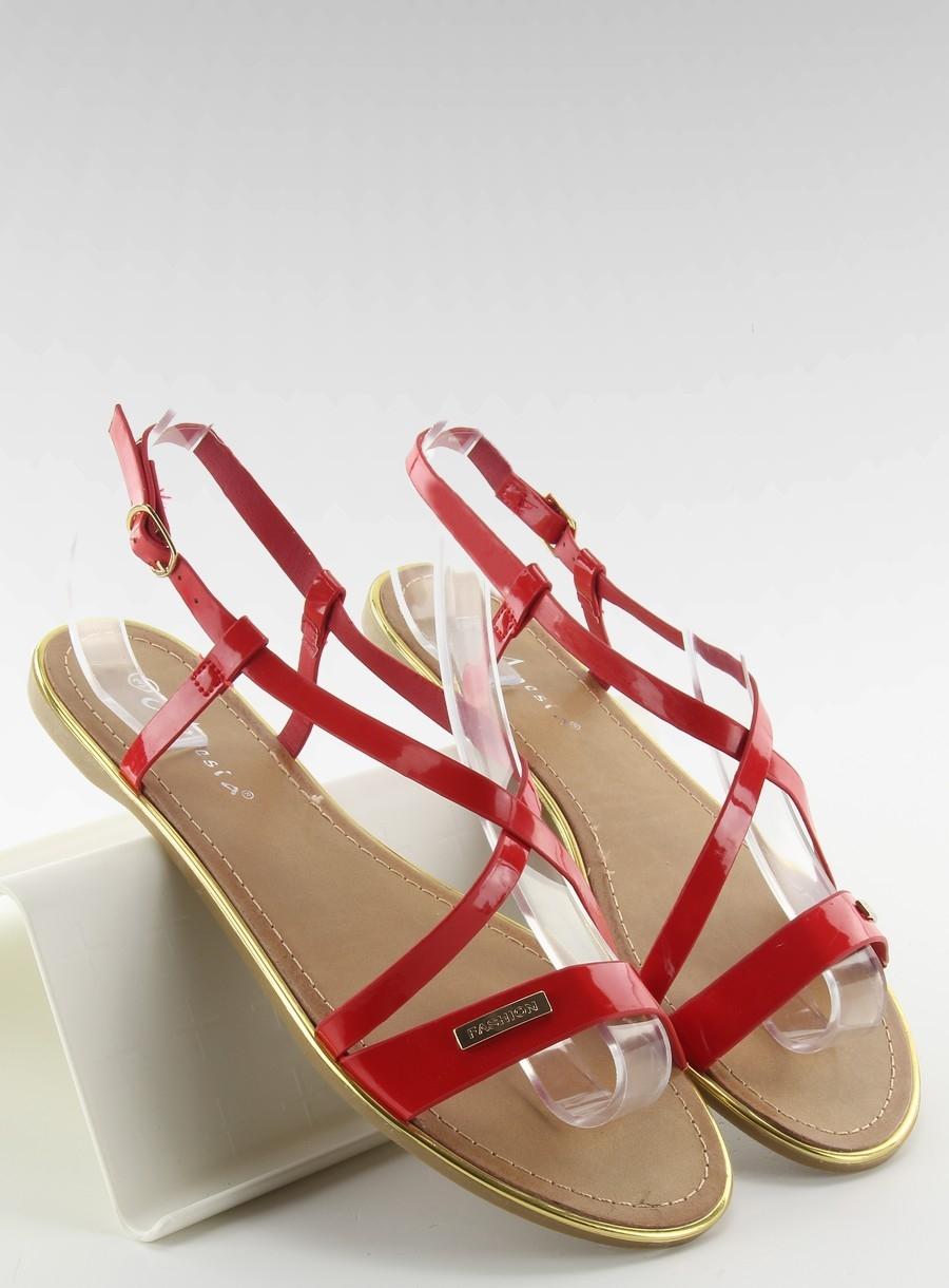 f18cdfb906 Ploché červené dámske sandále - LC-89