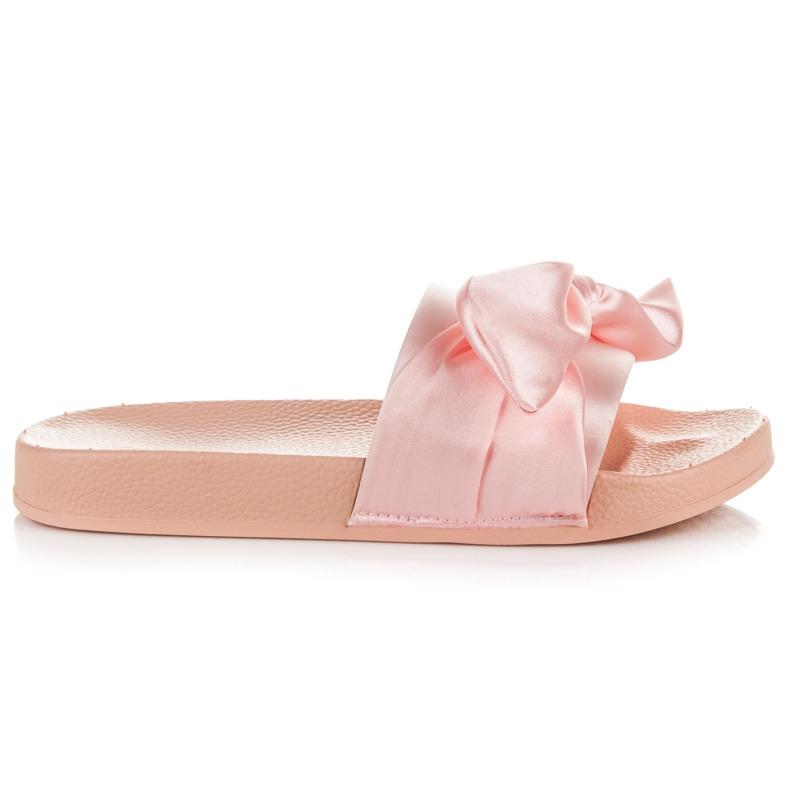 dc268b55ca Ružové šľapky s mašľou - 20129-4P