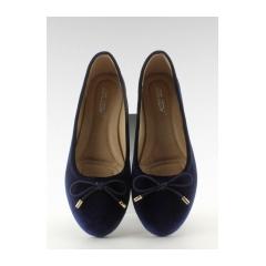 e856c02fa1a1 Tmavo modré balerínky s mašličkou - 9988-73