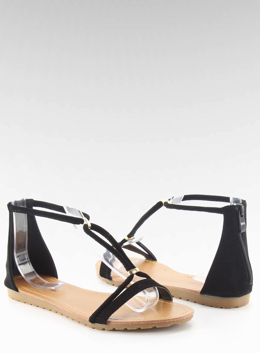 eb9a60e78 Vkusné čierne dámske sandále - wl1503 | dawien.sk