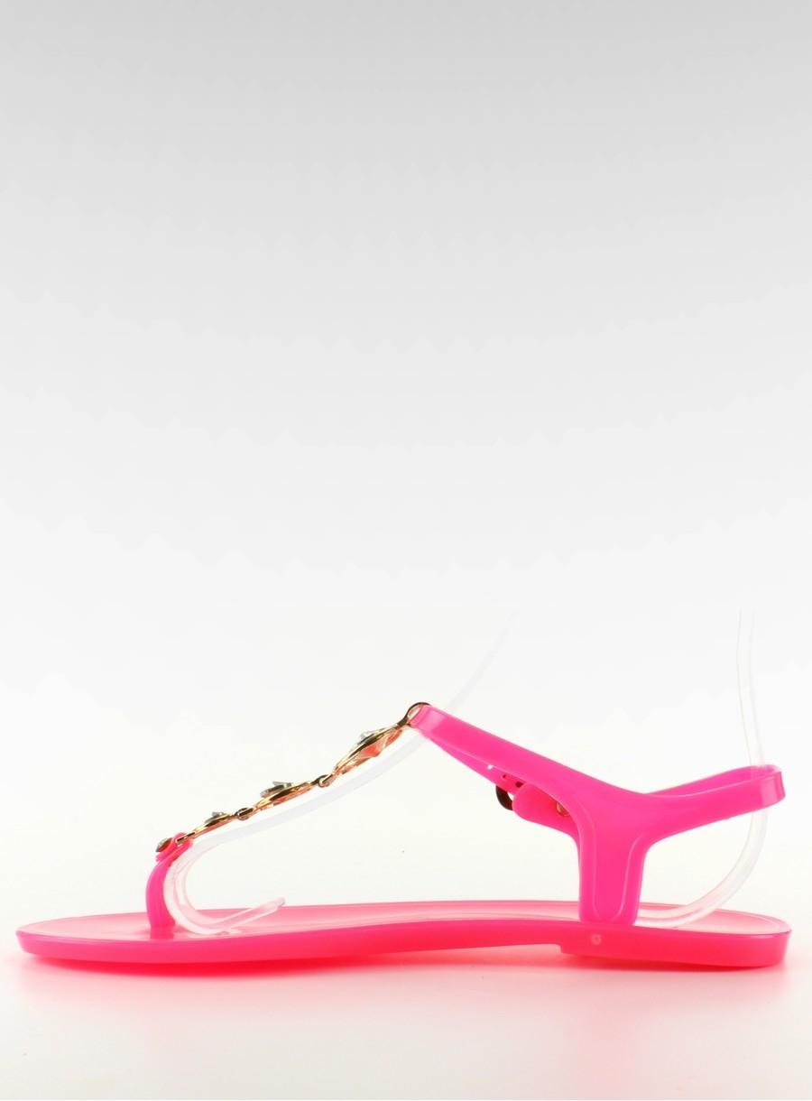 7b4423622939 Fuchsiové gumové sandále - HL-501