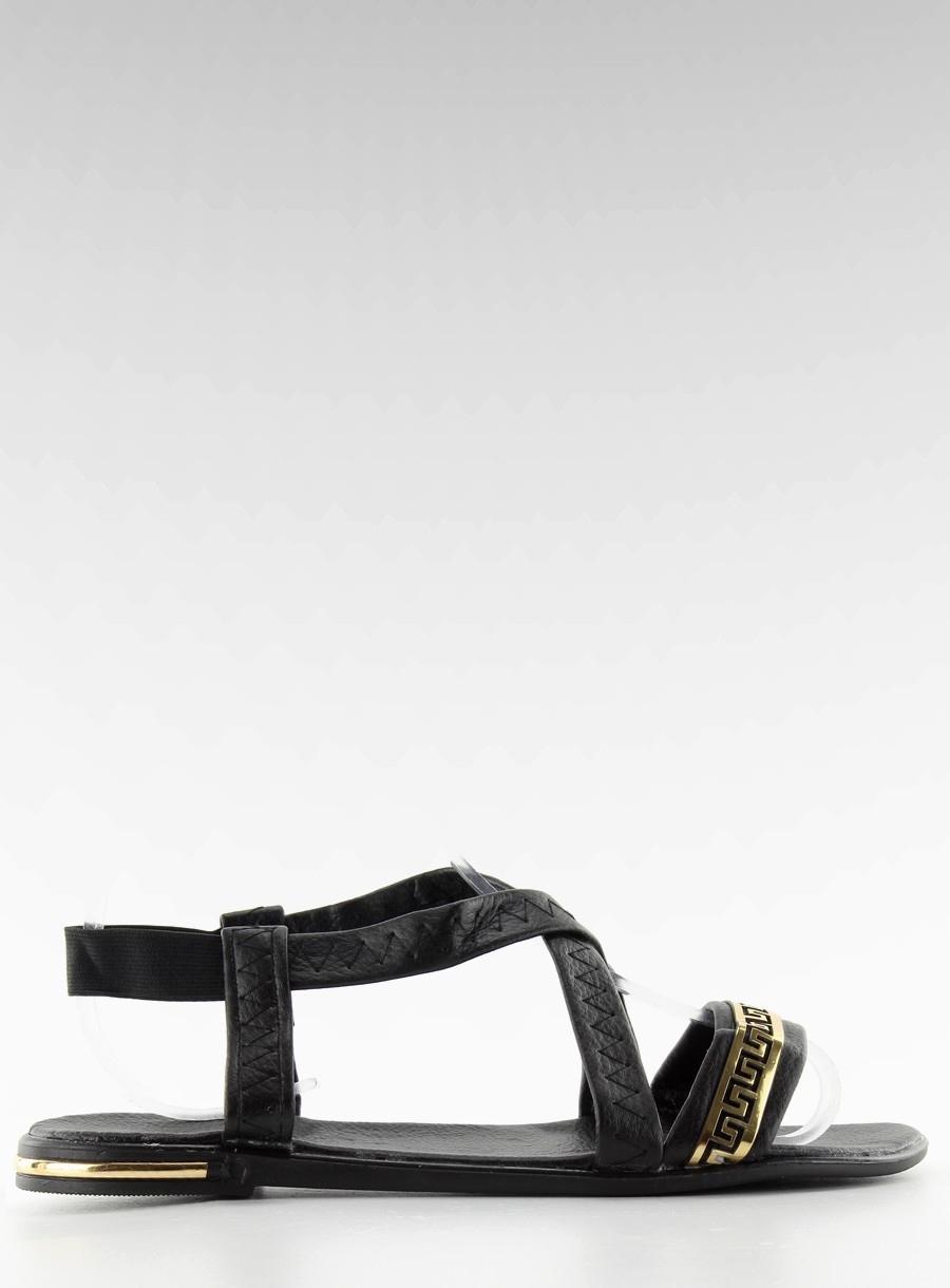 91a83c0fb578 Elegantné dámske čierne sandále - s17san