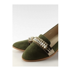 dbc330fbce Elegantné zelené lordsy s kamienkami - jh20p
