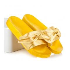 363a932cd9 Dámske žlté šľapky s mašľou - 06-502GIA