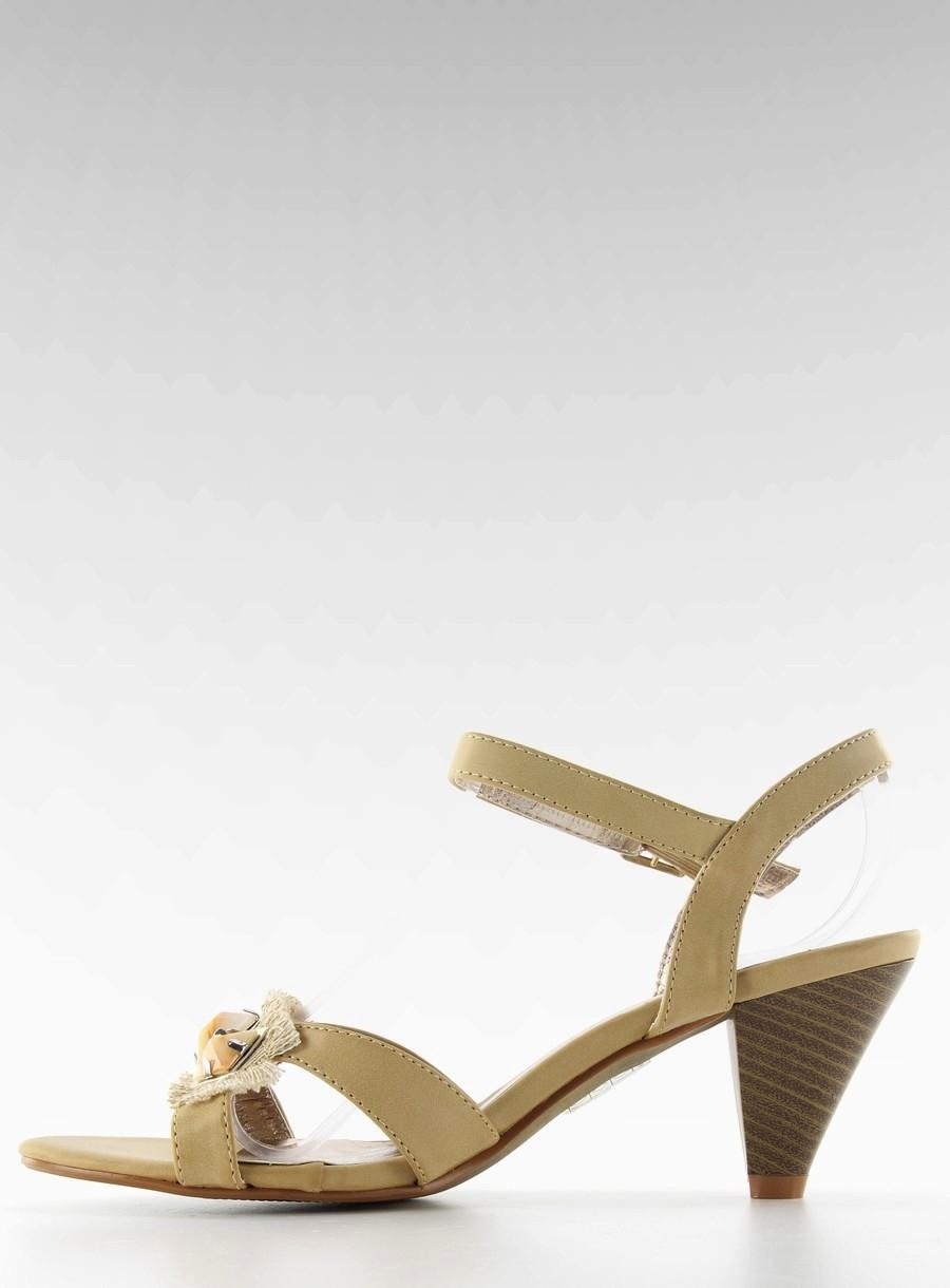 fe17f1e36ecc Štýlové béžové dámske sandále - H416-8