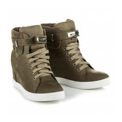 b9b8476e324d Dámske zelené semišové sneakery - AT0600GR