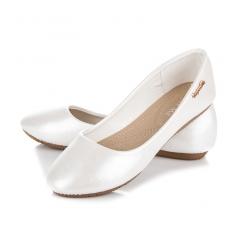 Luxusné dámske biele perleťové balerínky - K800W 08228b17e60