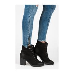 b955bca29f988 Dámske čierne kožené topánky - 1160/5B