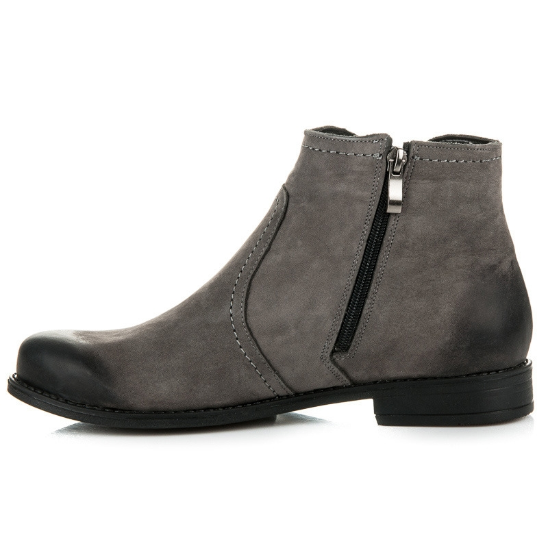 2d1462ab652c3 Dámske kožené šedé topánky - 1165/5G | dawien.sk